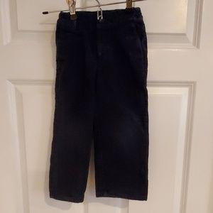 Janie and Jack boys corduroy pants size 3 navy